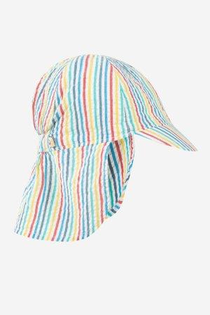 Seersucker Legionnaires Hat, Multi Seersucker Stripe, 0-4 år