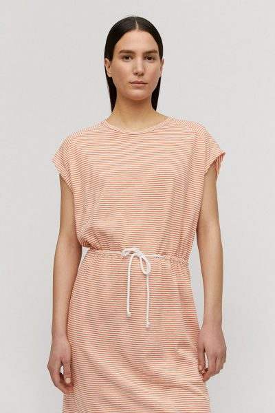klänning kortärm finrandig LAAIKO – 2 färger