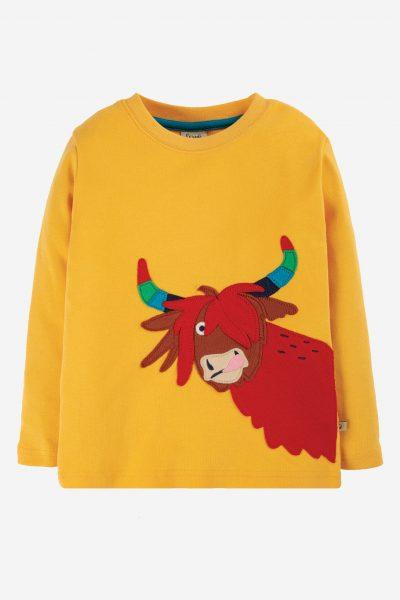 barntröja applikation rainbow cow