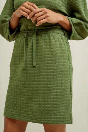 kjol quiltad lia kaki modell