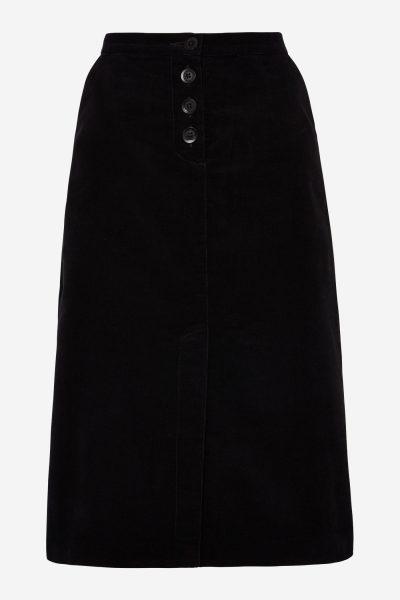kjol sammet rachel svart