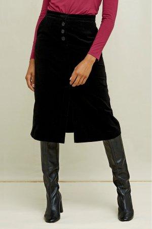kjol sammet rachel svart modell