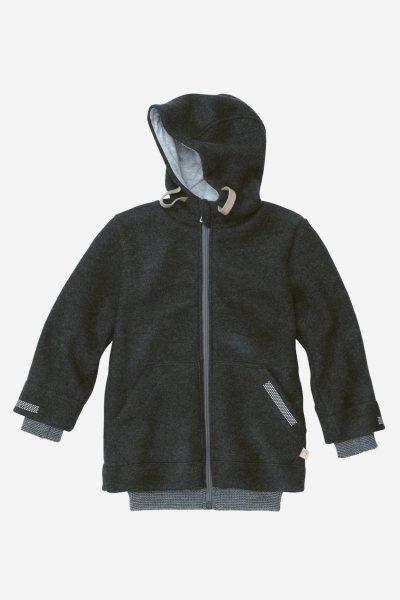 jacka outdoor filtad ull barn antacit