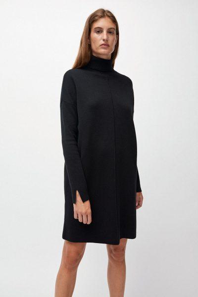 klänning stickad siennaa svart modell