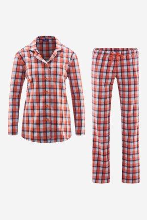 pyjamas dam flanell rutig