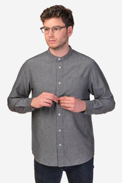 skjorta amit murarkrage grå modell