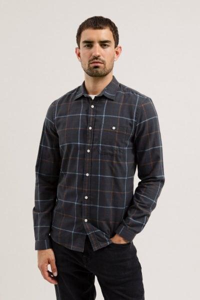 Skjorta NERAA rutig mörkgrå