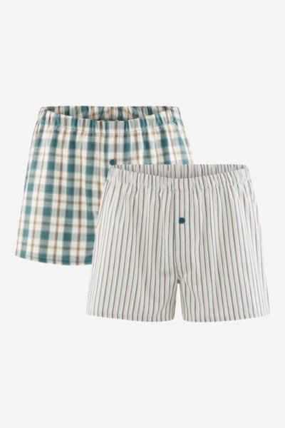 boxershorts vävda 2pack grön