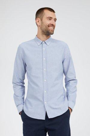 skjorta quaasi blåmelerad modell