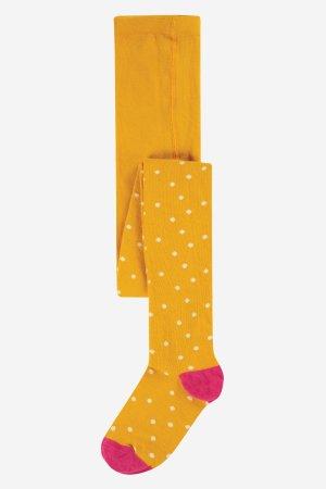strumpbyxor barn gula prickiga