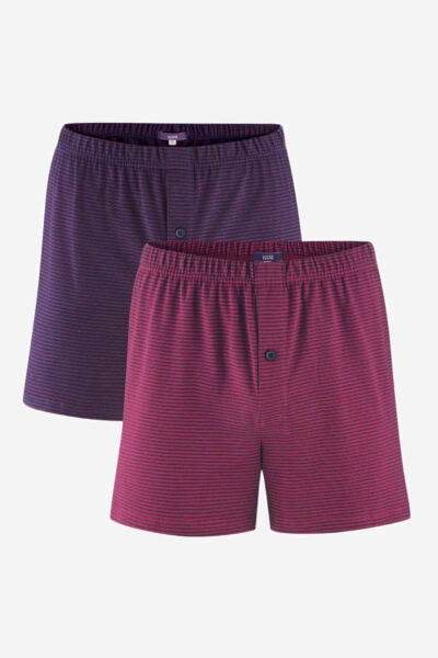 boxershorts ben randiga marinblå/mörkröd