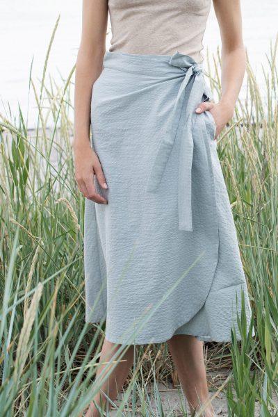 kjol bäckebolja blågrå modell