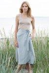Kjol bäckebölja blågrå
