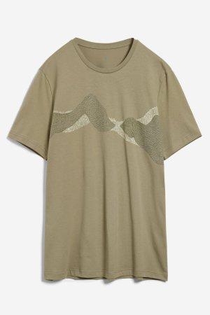 T-shirt pixel mountains JAAMES grön