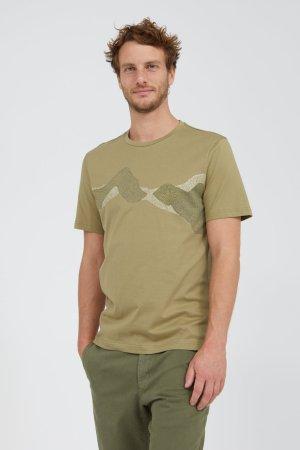 T-shirt pixel mountains JAAMES grön modell