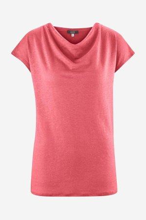 topp draperad hals lin gilka rosa