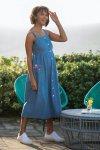 Mammaklänning & amning FRIEDA fickor denim