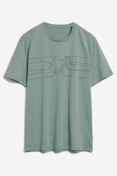 t-shirt smooth bike jaames grön