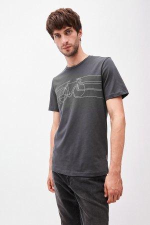 t-shirt smooth bike jaames mörkgrå modell