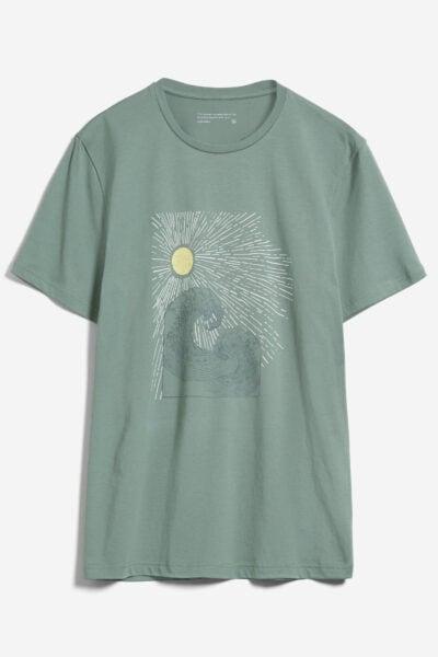 t-shirt sun waves jaames grön