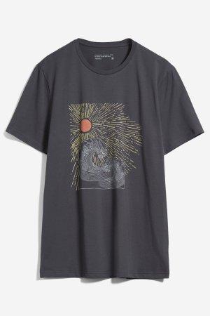 t-shirt sun waves jaames mörkgrå