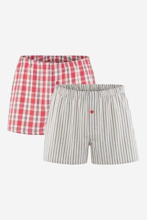boxershorts vävda 2-pack röd
