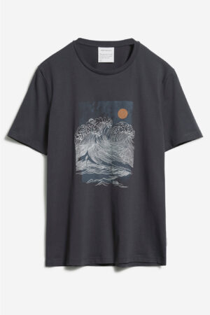 t-shirt big wave jaames mörkgrå