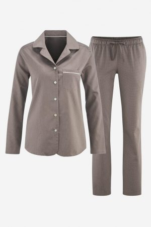 pyjamas dam ireen satin gråbrun