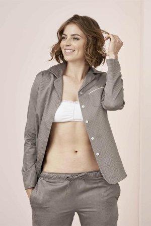 pyjamas dam ireen satin gråbrun modell