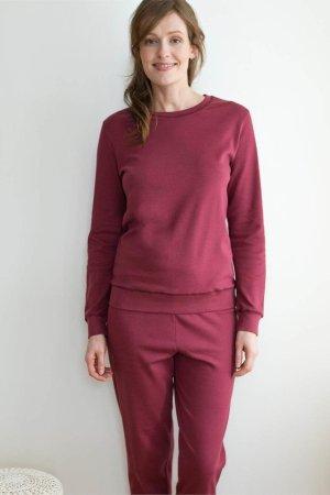 pyjamas dam vinröd modell
