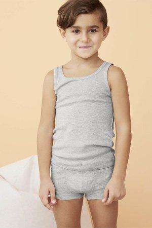 boxer kalsong barn gråmelerad modell