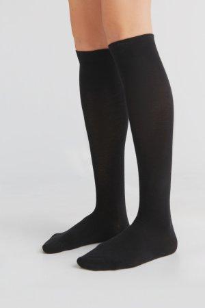 knästrumpor bomull svart modell