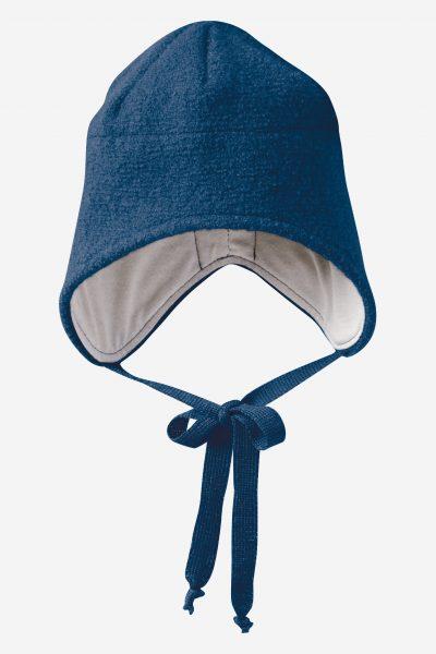 mössa hjälm filtad ull baby marinblå