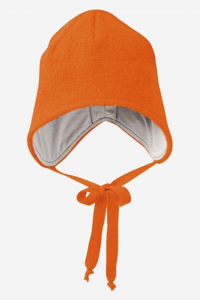 mössa hjälm filtad ull baby orange