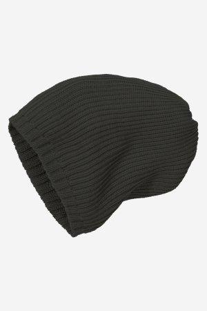 mössa stickad ull unisex svart