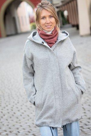 parka jacka filtad ull dam grå modell