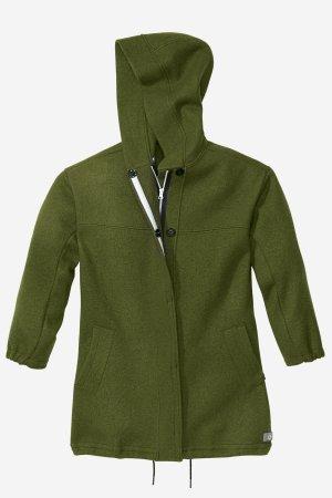 parka jacka filtad ull dam mörkgrön
