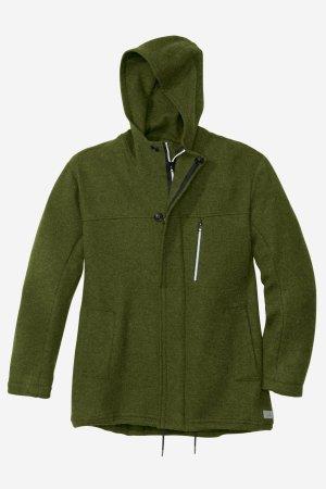 parka jacka filtad ull herr mörkgrön