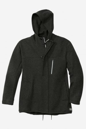 parka jacka filtad ull herr svart
