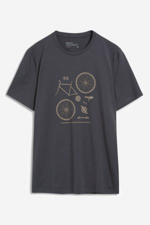 t-shirt bike parts jaames mörkgrå