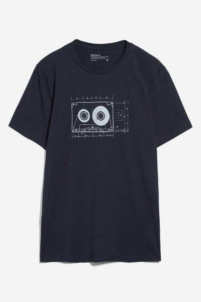 t-shirt tape jaames marinblå