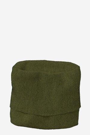tubhalsduk stickad ull barn mörkgrön/svart