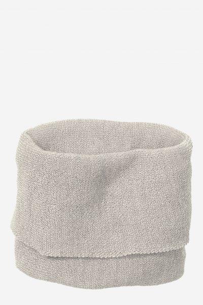 tubhalsduk stickad ull unisex grå/naturvit