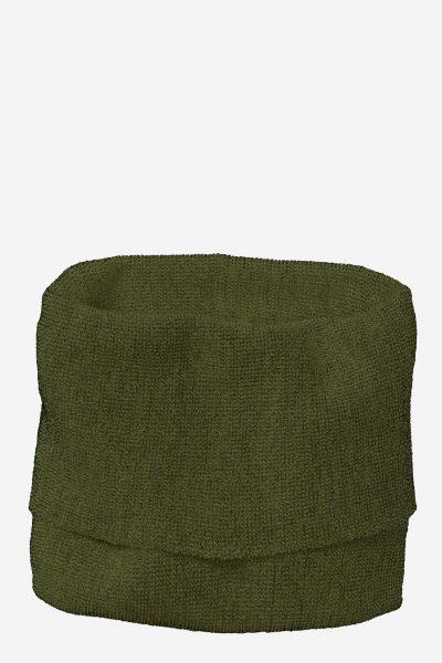 tubhalsduk stickad ull unisex mörkgrön/svart