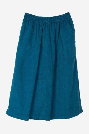 kjol fickor manchestertyg blå