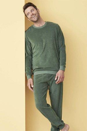 pyjamas herr björn frotté grön modell