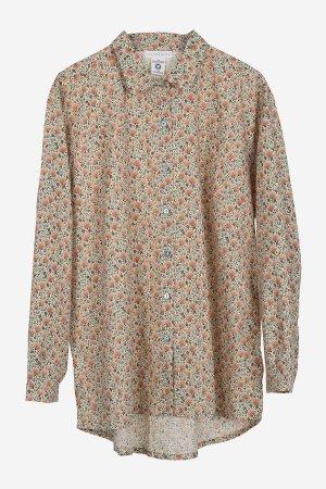 skjorta blommigt mönster dahlia