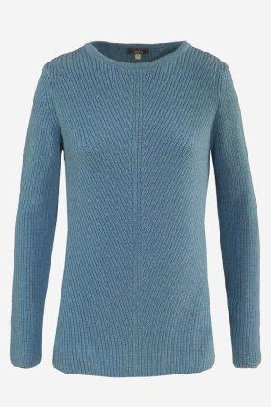 tröja ribbstickad ullmix lanielle blå