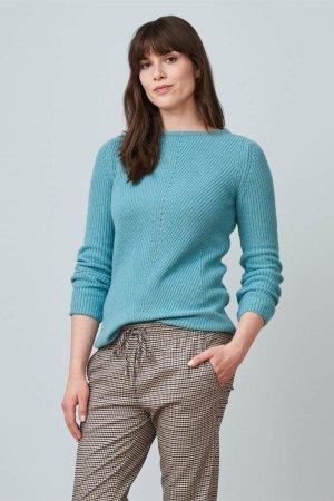 tröja ribbstickad ullmix lanielle blå modell