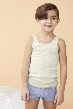 boxer kalsong barn blåmelerad modell